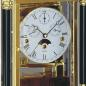 Preview: Kieninger mantel clock solid brass / walnut burl triple chime movement 1246-82-02