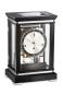 Preview: Kieninger noble mantel clock satin black finish triple chime on 8-rod gong 1267-96-02
