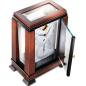 Preview: Kieninger mantel clock Art Deco style dark walnut finish dial with big date indication 1272-23-01