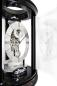 Mobile Preview: Kieninger modern skeleton clock black passing strike Trigon 1289-96-01
