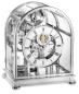 Preview: Kieninger majestic solid brass chrome plated mantel clock triple chime on 9-bell chime tourbillon  1709-02-03