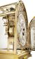Preview: Kieninger majestic solid brass mantel clock 24 carat gold plated triple chime on 9-bell chime 1709-06-01