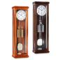 Mobile Preview: Kieninger eleganter Regulator in dunklem Nussbaum Halbstundenschlag 2174-22-01