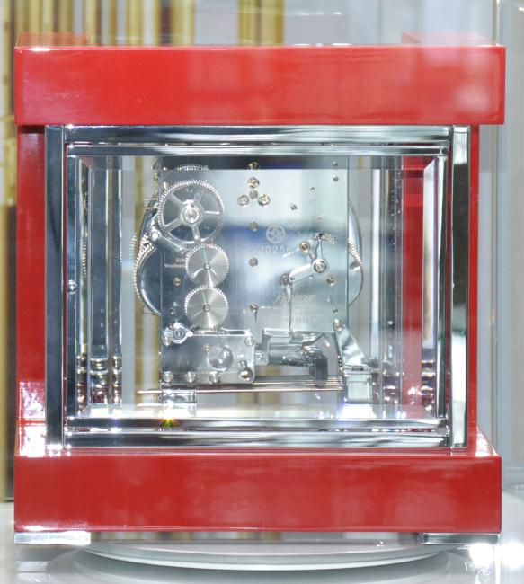 Kieninger clocks design-cube 3-tunes with tourbillon red 1266-77-04