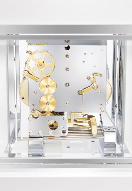 Kieninger clocks design-cube 3-tunes with tourbillon white 1266-95-04