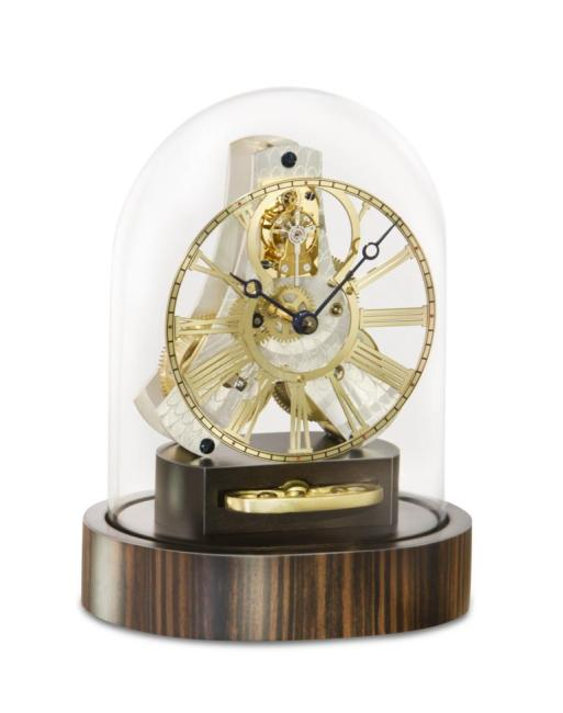 Kieninger miniature mantel clock ebony tourbillon1302-57-02