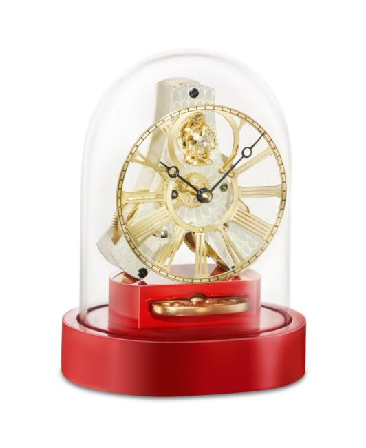 Kieninger miniature mantel clock red 1302-77-01