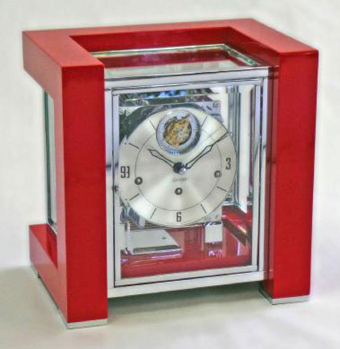 Kieninger clocks design-cube 3-tunes with tourbillon red 1266-78-04