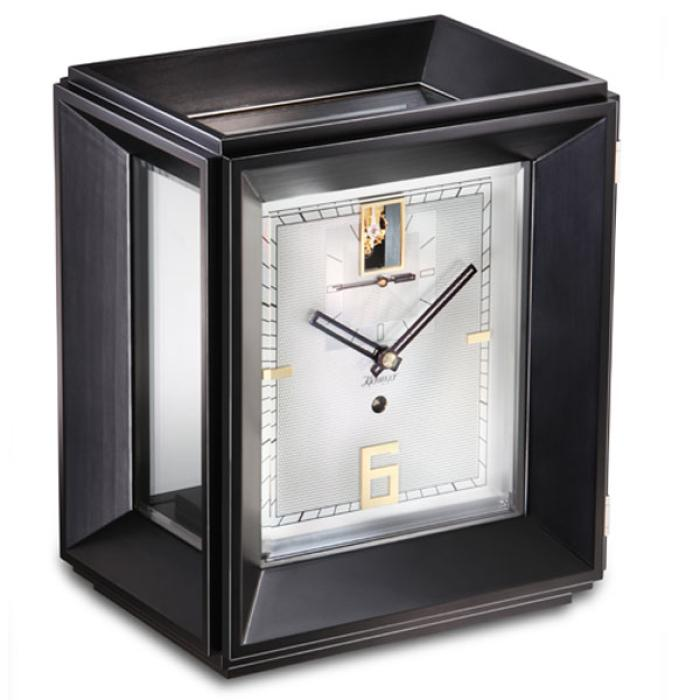 Kieninger exclusive mantel clock noble black finish one month winding period 1271-96-01