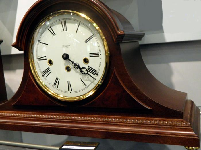 Kieninger traditional step tambour clock walnut Westminster 1274-23-01