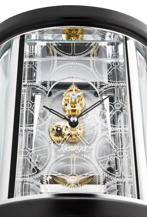 Kieninger retro design carriage clock with exclusive tourbillon movement 1279-02-01