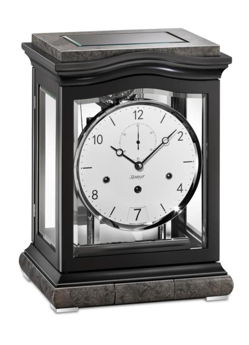 Kieninger mantel clock Aurora black triple chime 1793-96-01