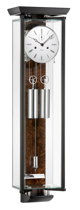 Kieninger regulator glass walnut burl pendulum carbon fibre coiled gong one month runtime 2548-92-03