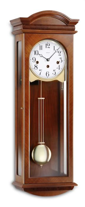 Kieninger classic cherry wall clock westminster 5-rod gong 2633-41-01