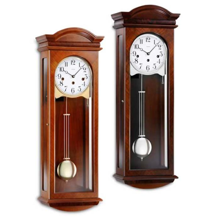Kieninger classic walnut wall clock westminster 5-rod gong 2633-22-01
