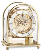 Kieninger contemporary mantel clock polished brass case triple chime on 8-rod gong 1226-01-04